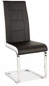 Smartshop Jídelní čalouněná židle H-629, černá/bílé boky
