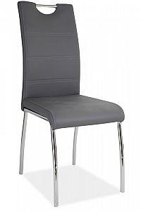 Smartshop Jídelní čalouněná židle H-822, šedá