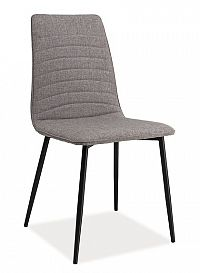 Smartshop Jídelní čalouněná židle TOMAS, šedá