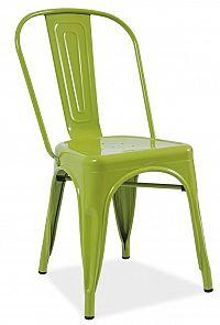 Smartshop Jídelní kovová židle LOFT, zelená
