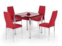 Smartshop Jídelní stůl rozkládací KENT, červený