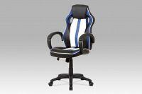 Smartshop Kancelářská židle KA-V505 BLUE, bílá/modrá/černá
