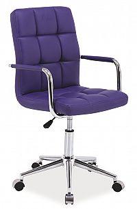 Smartshop Kancelářská židle Q-022 fialová ekokůže