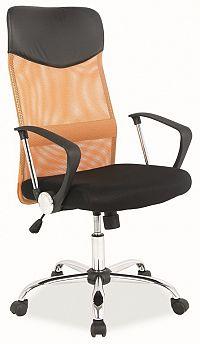 Smartshop Kancelářská židle Q-025 oranžová/černá