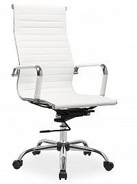 Smartshop Kancelářská židle Q-040 bílá ekokůže