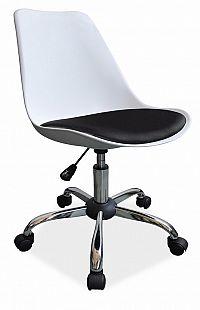 Smartshop Kancelářská židle Q-777 bílá-černá