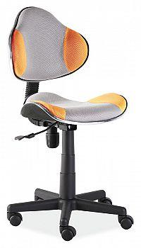 Smartshop Kancelářská židle Q-G2 šedá/oranžová