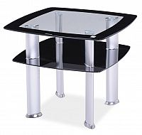 Smartshop Konferenční stolek DARIA D, sklo/černá