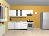 Smartshop Kuchyně OLDER 180/240 cm, bílá canadian