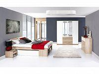 Smartshop Ložnice MILO, dub sonoma/bílá