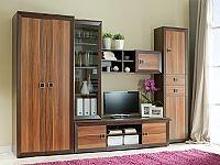 Smartshop MAJORKA obývací stěna, havana/kaštan wenge