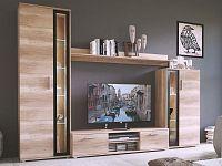 Smartshop Obývací stěna BENTLEY, dub šedý