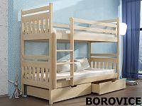 Smartshop Patrová postel ADAS 80x180 cm, masiv borovice/barva:..