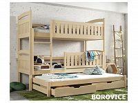 Smartshop Patrová postel s přistýlkou BLANKA 90x200 cm, masiv borovice/barva:..