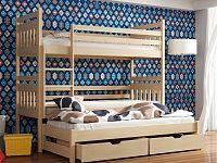 Smartshop Patrová postel s přistýlkou SEWERYN 80x180 cm, masiv borovice/barva:..