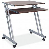 Smartshop PC stůl B-233, ořech/kov
