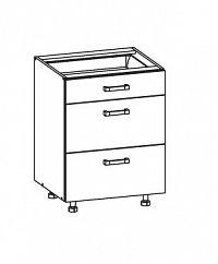 Smartshop PESEN 2 dolní skříňka D3S 60 SMARTBOX, korpus šedá grenola, dvířka dub sonoma