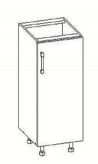 Smartshop PESEN 2 dolní skříňka D45 pravá, korpus bílá alpská, dvířka dub sonoma hnědý