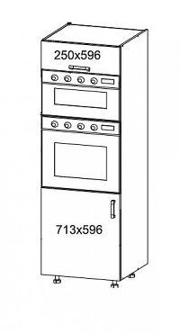 Smartshop PESEN 2 vysoká skříň DPS60/207O, korpus šedá grenola, dvířka dub sonoma hnědý