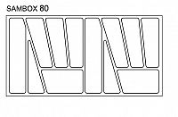Smartshop Pořadač do zásuvek SAMBOX, 80 cm