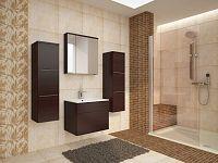 Smartshop  PORTO, koupelnová sestava, wenge