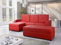 Smartshop Rohová sedačka BAZYL 3 univerzální roh, červená ekokůže
