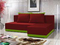 Smartshop Rohová sedačka BRAGA 4, červená látka/zelená látka