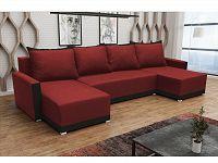 Smartshop Rohová sedačka BRAGA U, červená látka/černá látka