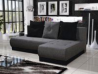 Smartshop Rohová sedačka INSIGNIA 11, šedá/černá