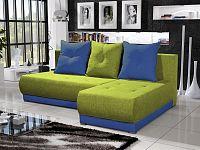 Smartshop Rohová sedačka INSIGNIA 16, zelená/modrá