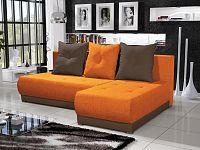 Smartshop Rohová sedačka INSIGNIA 20, oranžová/hnědá