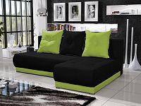 Smartshop Rohová sedačka INSIGNIA 3, černá/zelená