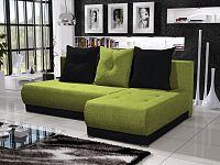 Smartshop Rohová sedačka INSIGNIA 4, zelená/černá