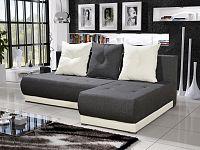 Smartshop Rohová sedačka INSIGNIA 9, šedá/krémová