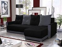 Smartshop Rohová sedačka INSIGNIA BIS 12, černá/šedá