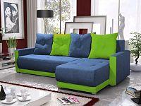 Smartshop Rohová sedačka INSIGNIA BIS 15, modrá/zelená