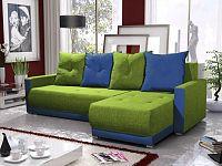 Smartshop Rohová sedačka INSIGNIA BIS 16, zelená/modrá