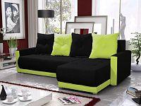 Smartshop Rohová sedačka INSIGNIA BIS 3, černá/zelená