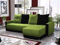 Smartshop Rohová sedačka INSIGNIA BIS 4, zelená/černá