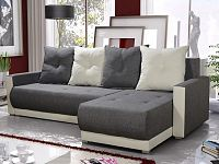 Smartshop Rohová sedačka INSIGNIA BIS 9, šedá/krémová
