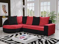 Smartshop Rohová sedačka LIZBONA 10 levá, červená/černá