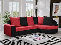 Smartshop Rohová sedačka LIZBONA 10 pravá, červená/černá