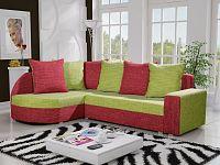 Smartshop Rohová sedačka LIZBONA 5 levá, zelená/červená