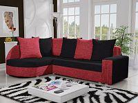 Smartshop Rohová sedačka LIZBONA 9 levá, černá/červená