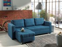 Smartshop Rohová sedačka MANHATTAN, modrá látka