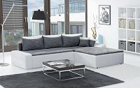Smartshop Rohová sedačka MAXIMO, univerzální, šedá/bílá