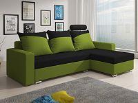 Smartshop Rohová sedačka MONDEO 6, černá/zelená