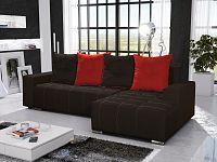 Smartshop Rohová sedačka TELO 12 pravá, černá/červená