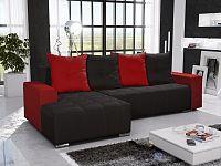 Smartshop Rohová sedačka TELO 3 levá, černá/červená