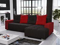 Smartshop Rohová sedačka TELO 3 pravá, černá/červená